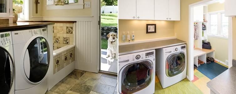 desain tempat mesin cuci laundry