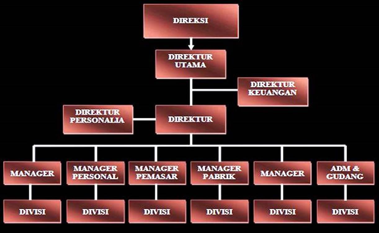 susunan jabatan struktur organisasi perusahaan