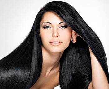 rambut indah berkilau
