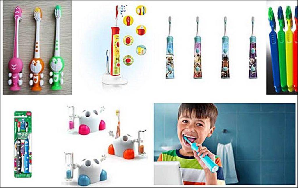 mengajar anak sikat gigi
