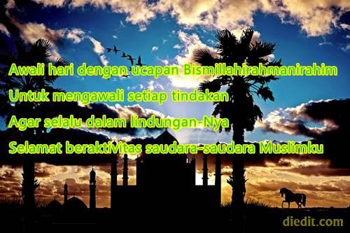 kata semangat pagi islam