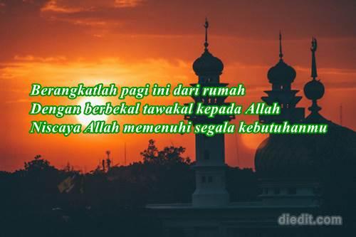 ucapan selamat pagi islami