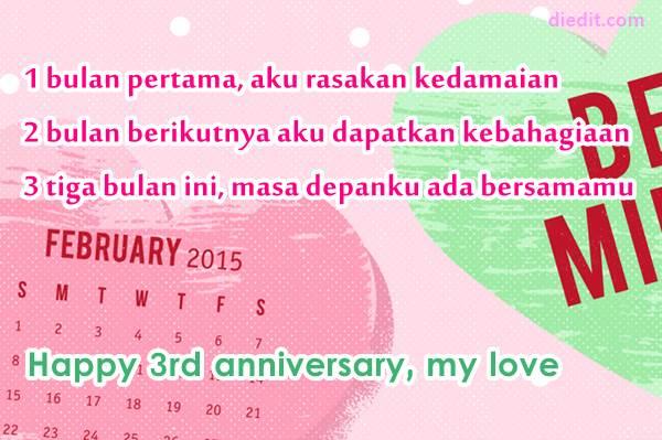 kata anniversary 3 bulan