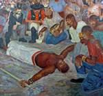 lukisan buruh henry