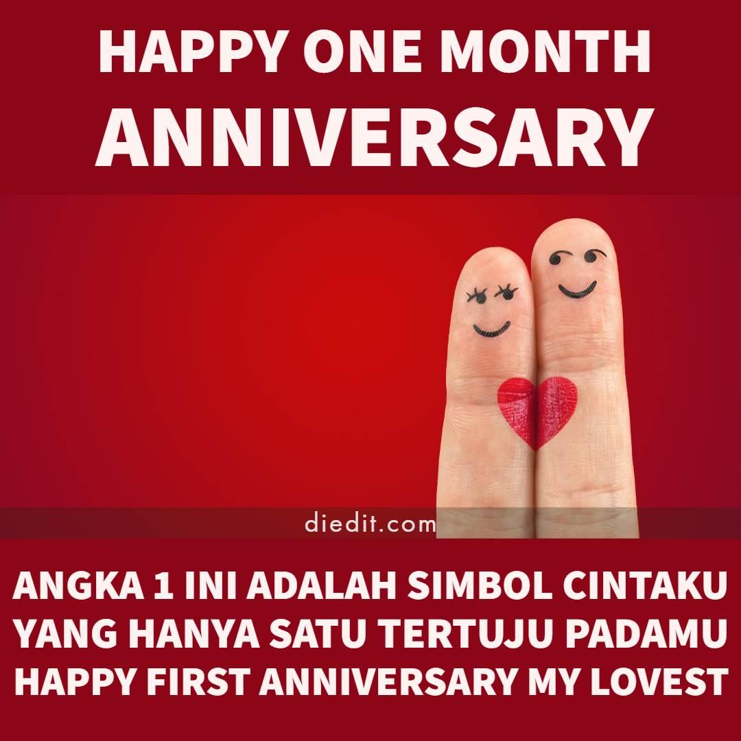 happy anniversari satu bulan - Angka 1 ini adalah simbol cintaku yang hanya satu tertuju padamu Happy first anniversary my lovest