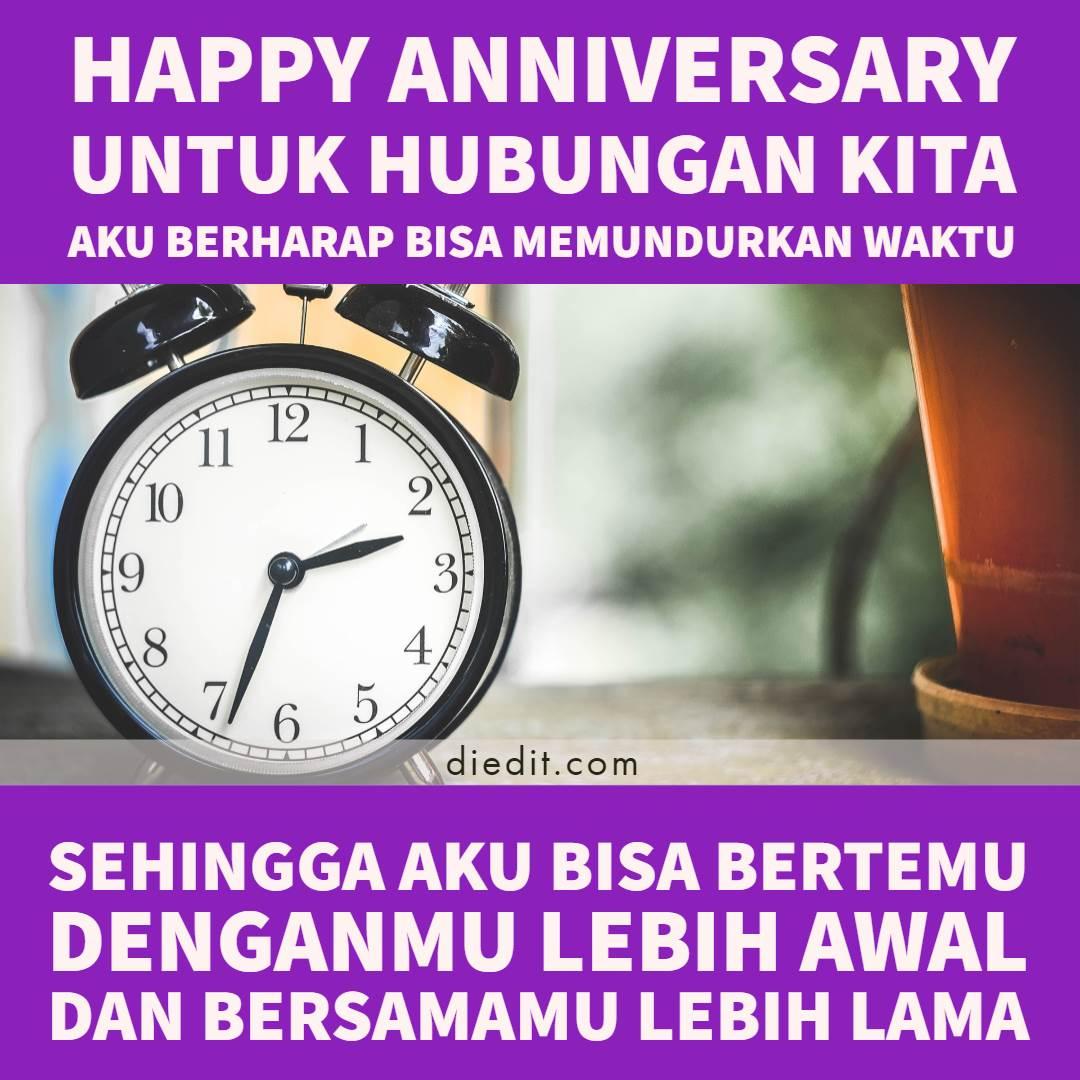 happy anniversary untuk pernikahan - Happy anniversary untuk pernikahan kita Aku berharap bisa memundurkan waktu Sehingga aku bisa bertemu denganmu lebih awal Dan bersamamu lebih lama