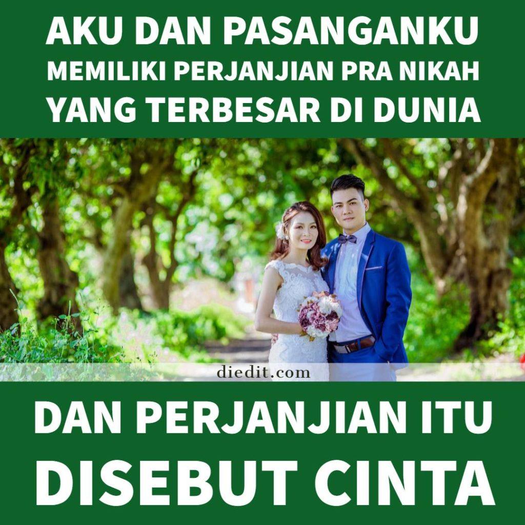 kata kata janji nikah - Aku dan suamiku memiliki perjanjian pra nikah yang terbesar di dunia. Dan perjanjian itu disebut cinta.