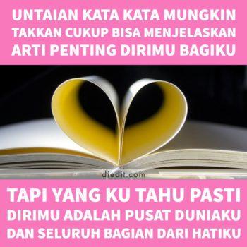 kata kata romantis arti penting dirimu