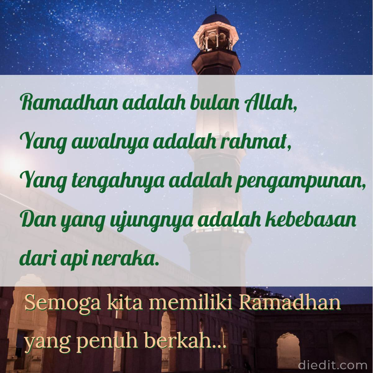 100 Kata Kata Ramadhan 2020 Ucapan Islami Di Bulan Puasa