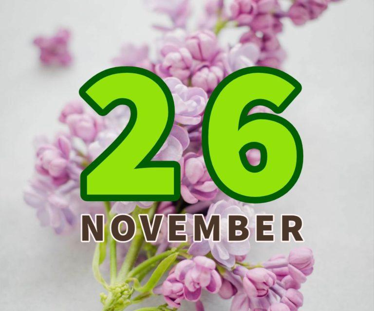 lahir 26 november