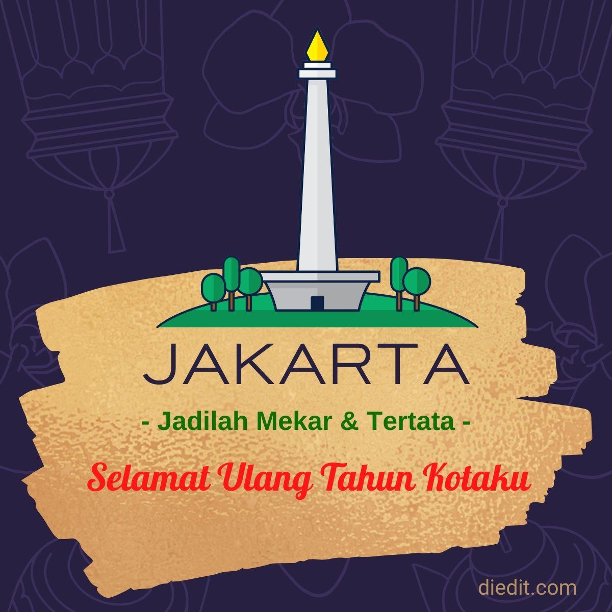 30 Ucapan dan Pantun Selamat Ulang Tahun Jakarta 2020 ...