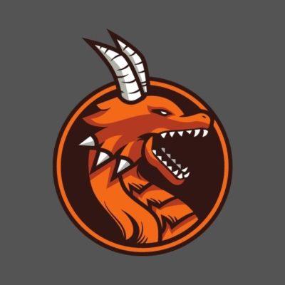 logo keren naga merah