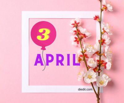 karakter lahir 3 april