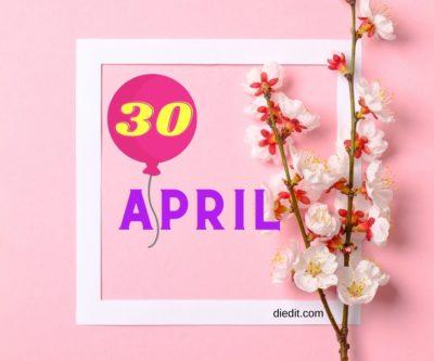 sifat kelahiran 30 April