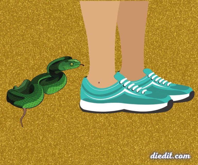 arti mimpi digigit ular di kaki
